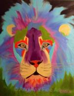 Color Me Lion Pop Art