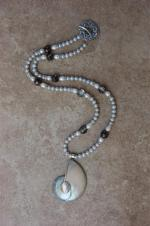 Natilus Pendant and Pearl Necklace